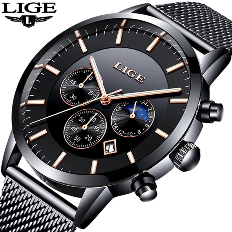 2018 LIGE Herren Uhren Top Brand Luxus männer Militär Sport Uhr Männer Casual Wasserdicht Quarz Armbanduhr Relogio Masculino