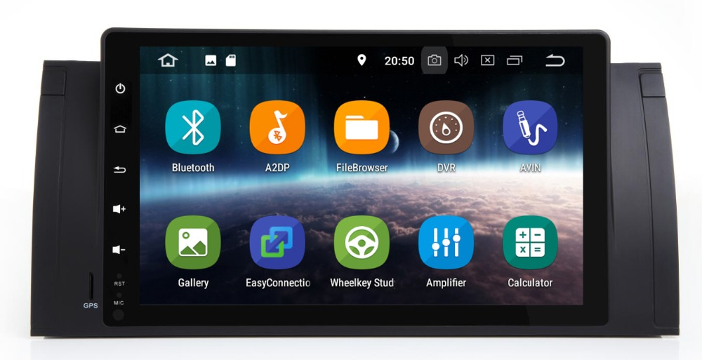Android 8.1PX30 pour bmw E39, X5, M5, E53 voiture dvd, navigation gps, wifi, radio, bluetooth, volant Canbus carte Gratuite, micro, écran tactile