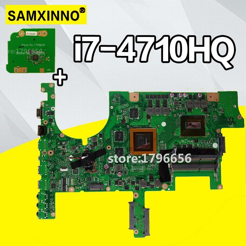 G751 carte mère pour asus G751J G751JY G751JT G751JM ordinateur portable carte mère avec I7-4710HQ CPU GTX980M 4 GB carte mère Test OK