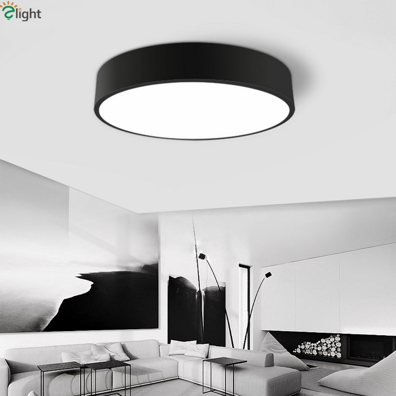ФОТО Modern Minimalism Matte Black White Cubar Design Led Ceiling Lights Acrylics Shades Dining Room Bedroom Dimmable Ceiling Lamps