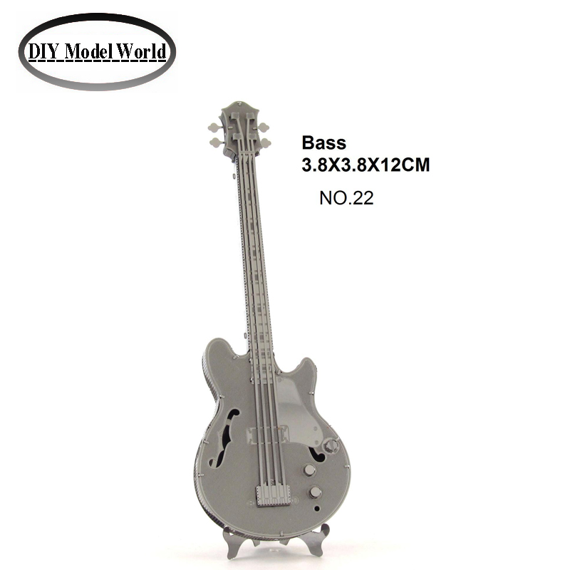 Bass Musical Instruments model best gift for kids educational toys New arrival 3D DIY metal model