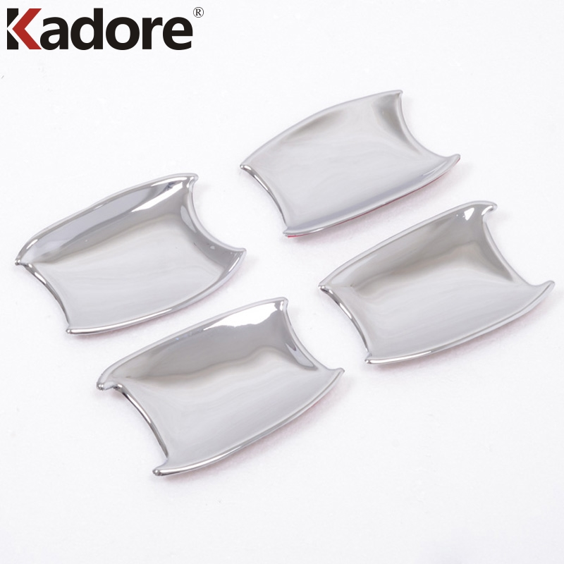 For Toyota Prado FJ150 2010-2016 ABS Chrome Car Door Handle Cup Bowl Cover Cup Cap Molding Overlay Frame Trim Outer Accessories