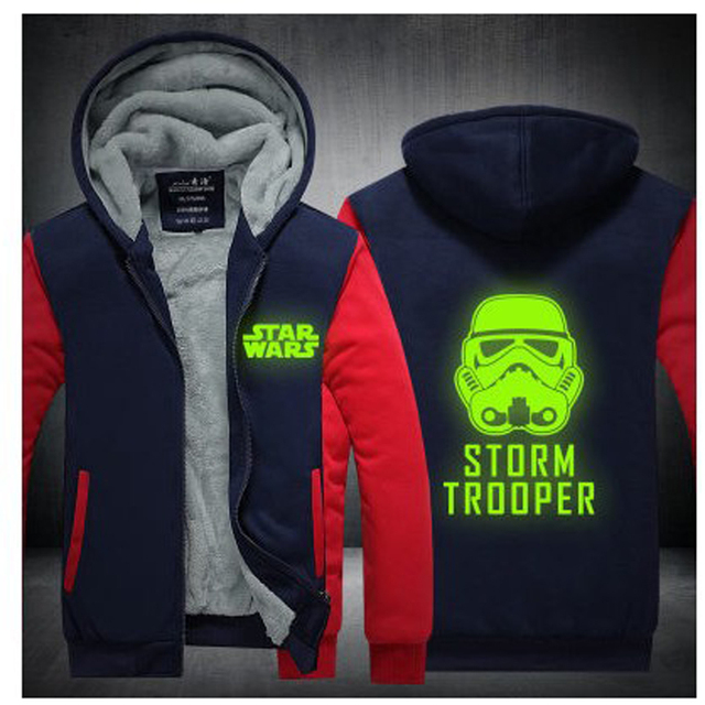 2017 Winter Jackets And Coat Star Wars Hoodie Darth Vader Jedi knight Winter Hooded Men Cardigan Sweatshirts Halloween Costume