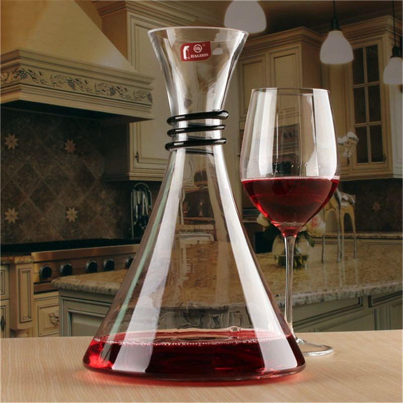 1PC 1800ml Lead Free Crystal Glass Red Wine Decanter Carafe Aerator Pourer Barware Bar Tool Gift