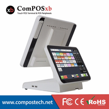 POS1619D Dual Screen LCD Restaurant Touch POS System Terminal All In One Pos Machine