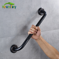 Wholesale And Retail Oil Rubbed Bronze Solid Brass 35cm Bath Tub Grab Shower Safety Handrail Wall