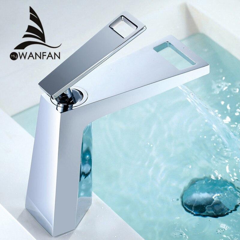 Basin Faucet Bathroom Torneira Para Banheiro Chrome Faucet Basin Taps Deck Mounted Grifo Lavabo Hot Cold