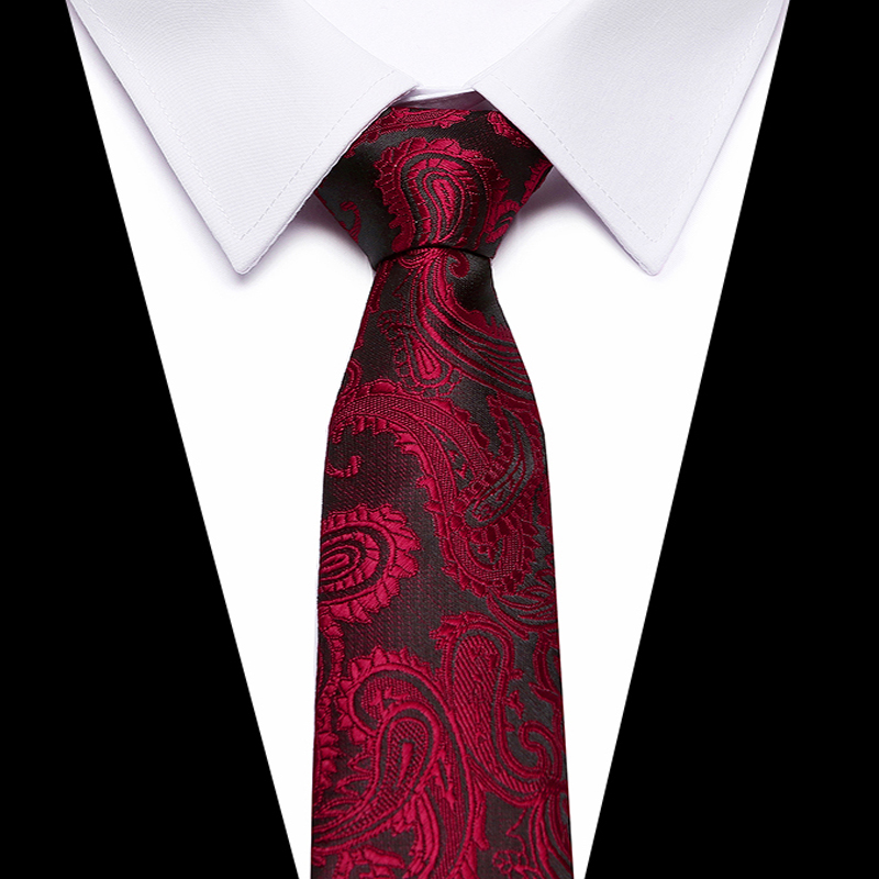 Red Brown Mens Tie Set 2018 Jacquard Silk Ties Business  Fashion Print Ties For Men 8cm Corbatas