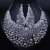 Joyería de La boda Chapado En Oro Lleno de Collar de Cristal Elegante Pendientes para Las Mujeres Joyería Africana fija