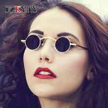 FZKYNY Classic Steampunk Round Sunglasses Women Men Brand Designer Vintage Gothic The Vampire Eyewear Oculos De Sol