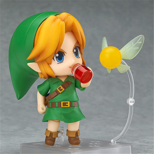 GSC Nendoroid The Legend of Zelda Link Majora's Mask 3D Ver. Mini Figure Doll  10CM Collectible Anime Model Toys  nendoroid the legend of zelda link majora s mask 3d figure with original box