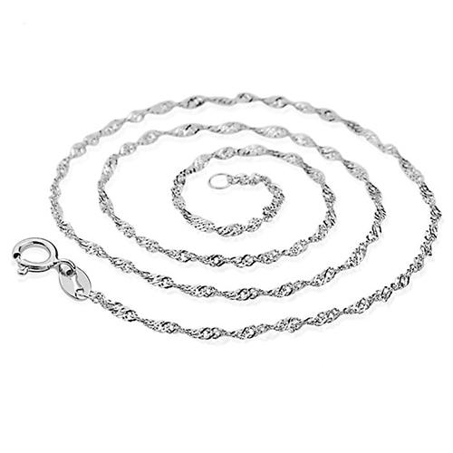 7f04438acf8f 12 piezas de plata de las mujeres onda de agua collar de cadena DIY joyería  encantos para fiesta
