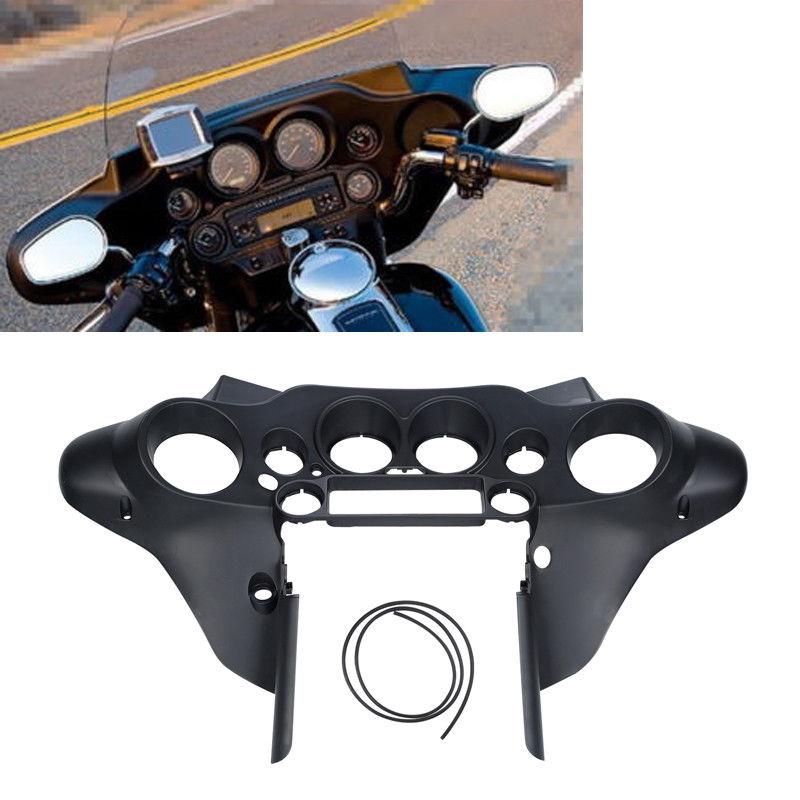 Black Front Inner Speedometer Cover Cowl Fairing For Harley Electra Road King Street glide FLHTC FLHTCU