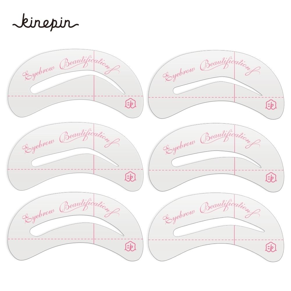 6 Stks Lijster Card Herbruikbare Wenkbrauw Stencil Set Wenkbrauw DIY - Make-up