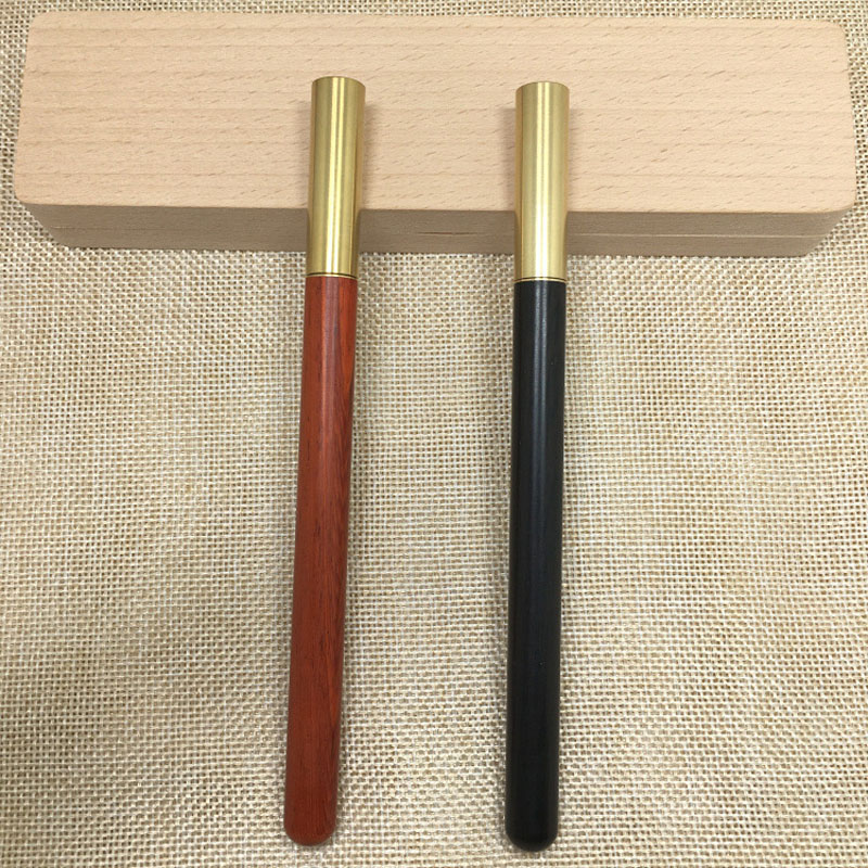 1PCS High Quality Luxury Wood Ballpoint Pen Black Ink Pen Brass Ball Pen Stationery Office Supplies With Pen Bag For Gift YZB08 screen automatic hair curler professional heating magic wand curling iron hair waver styler tools curling iron hair styler