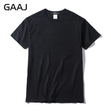 2018 T Shirt Men Plus Size 3XL 100% USA Cotton Hip Hop Basic Blank T-shirt For Mens Fashion Tshirt White Wine Purple Tee #GAB003(China)