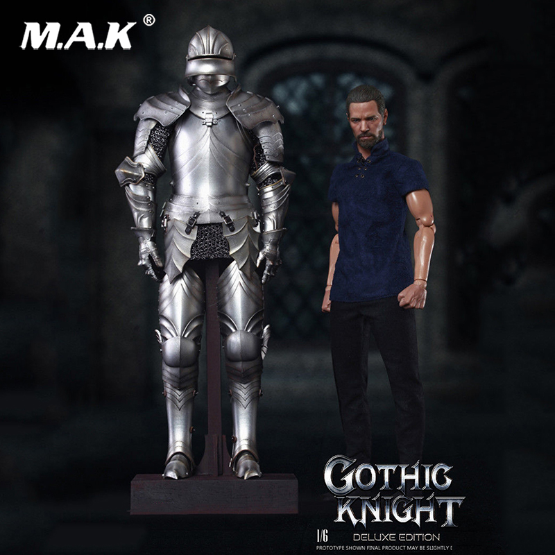 Full set of action firgure 1/6 Diecast SE013 Series of Empires-Gothic Knight Figure Deluxe Ver. for Collection
