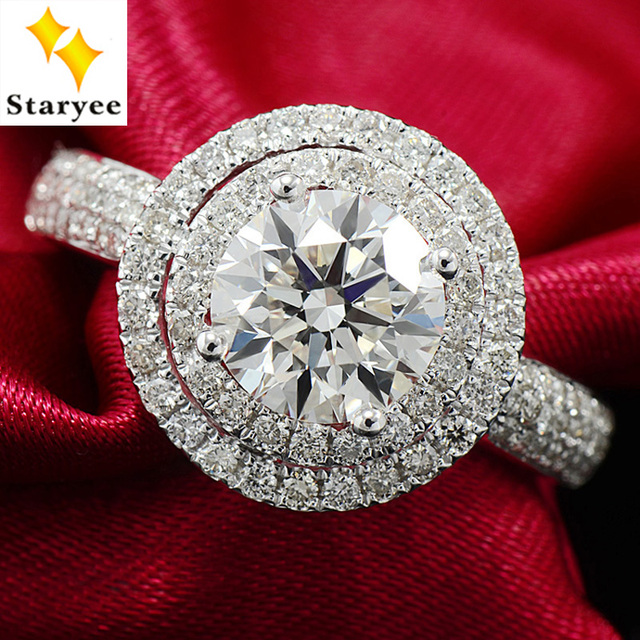 Top Luxurious One Carat VS D color Forever One Moissanite Diamond  HX18