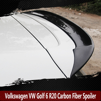 For Volkswagen VW Golf 6 R20 2010 2013 Rear Wing Spoiler, Trunk Boot Wings Spoilers Carbon Fiber 3m Paste