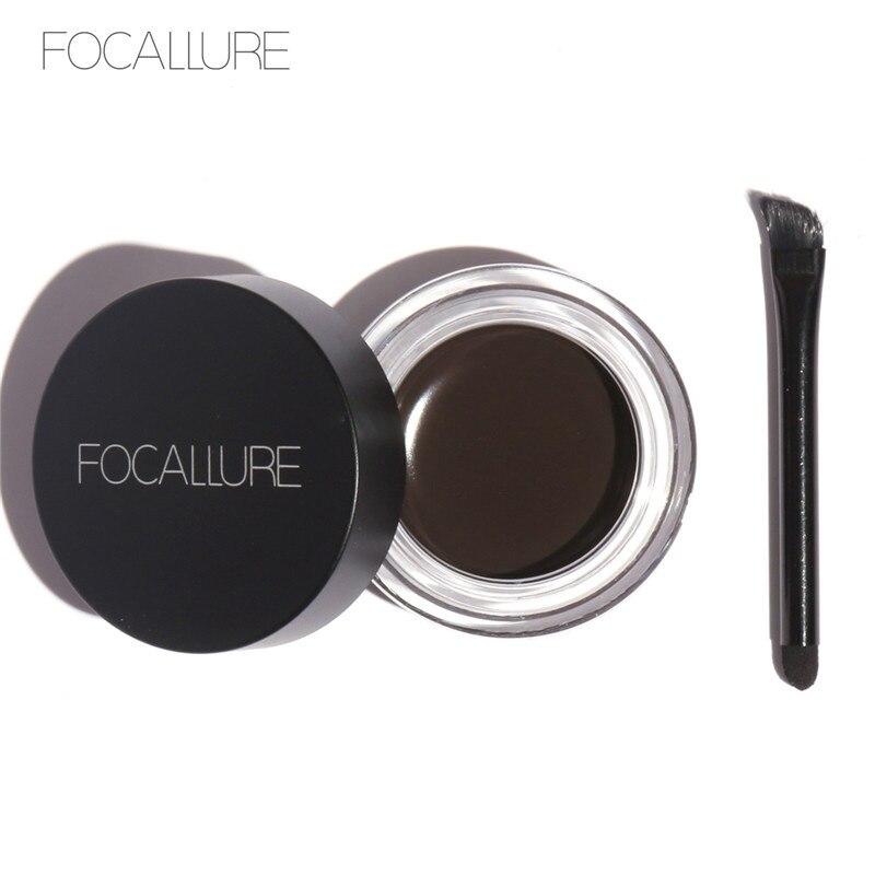 Focallure 5 Colors Eyebrow Gel Durable Eyebrow Pomade Gel Waterproof Maquiagem Makeup Eyebrow Gel with brush Eyebrow Enhancer
