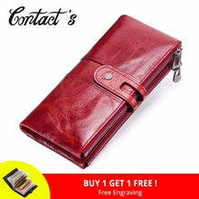 Brand Designer Women Clutch 2018 Fashion Wallets Cowhide Leather Female Long Wallet Women Zipper Purse Coin Purse For iPhone X(China)