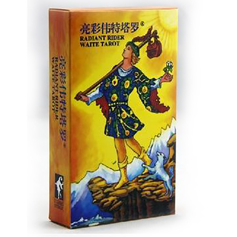 Radiant Rider Waite Tarot Board Game High Quality Paper 78 PCS Cards Chinese/English Edition for Astrologer