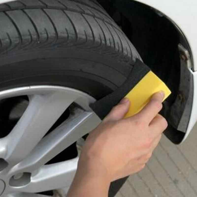 1/3Pcs Car wash U-Shape Tire Wax Polishing Compound Sponge ARC Edge Sponge Tyre Brush car Cleaning products for car accessorie