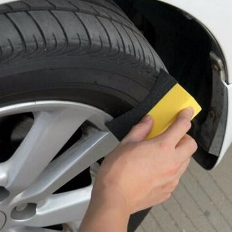 Auto U-Shape Tire Wax Polishing Compound Sponge ARC Edge Sponge Tyre Brush car Cleaning Sponge mjjc wheel and tire coating sponge brush car motorcycle vehicle wheel tire brush waxing sponge removable cleaning hand tools