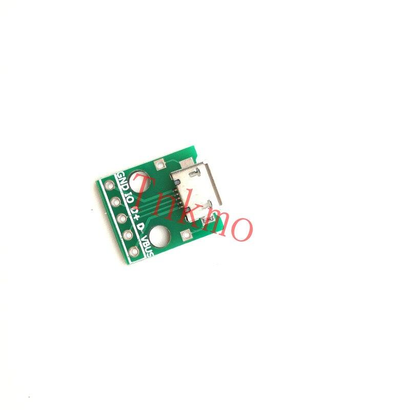 1pcs MICRO USB to DIP Adapter 5pin Female Connector B Type PCB Converter pinboard 2.54 10pcs mini micro usb to dip 2 54mm adapter connector module board panel female 5 pin pinboard 2 54mm micro usb pcb type parts