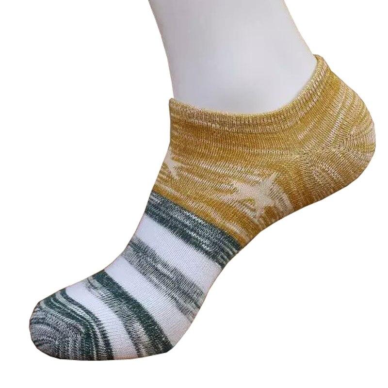 3Pair Mens Color Stripes Ankle Socks Funny Calcetines New Design Popular Mens Socks Cotton Style Chaussette Homme Short Sock