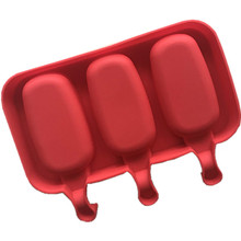 3 even oval silicone ice cream mold DIY recycling with stick