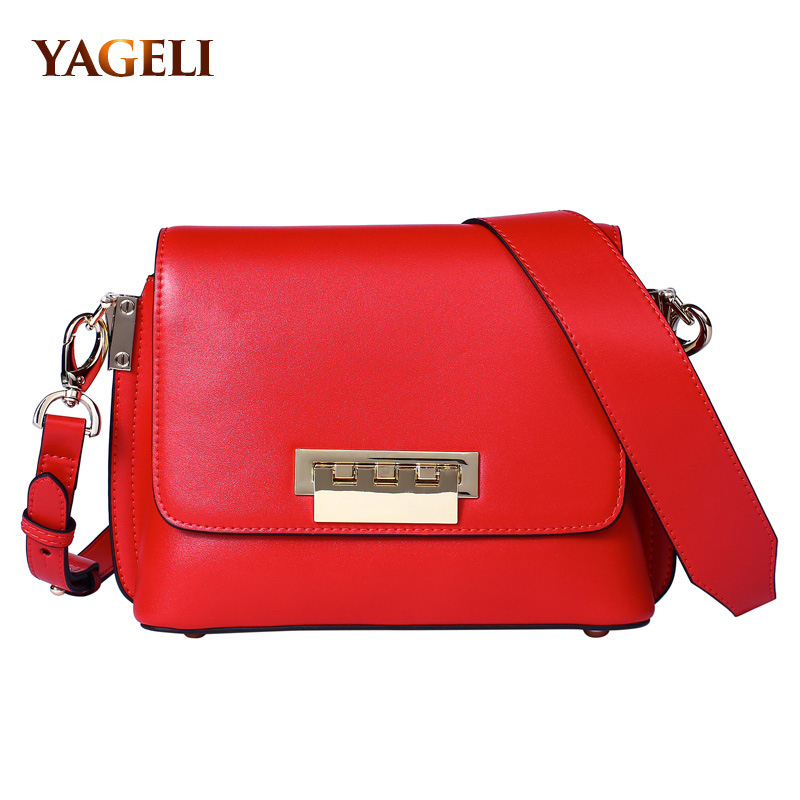 2018 genuine leather crossbody bags for women luxury cow leather lady shoulder messenger bags brand design women shoulder bags