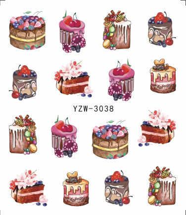 1 лист 2019 вкусные торт холодный лед для напитков крем для дизайна ногтей водная Наклейка для ногтей искусство декоративные наклейки маникюр