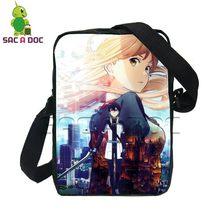 Anime Sword Art Online The Movie Ordinal Scale Men Women Mini Messenger Bag  Boys Girls Kirito Asuna GGO Crossbody School Bags 4b2aa5b614336