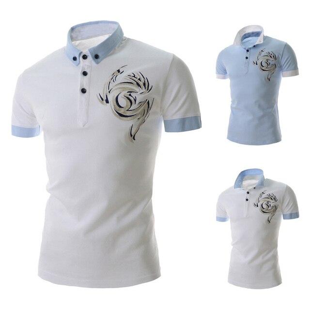 2015 новый летний мужчины короткий рукав рубашки поло твердые мужские рубашки поло бизнес свободного покроя печать хлопка спортивная дышащий