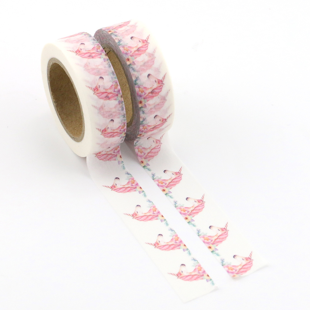 Unicorn Washi Tape Quality Stationery Diy Scrapbooking Photo Album School Tools Kawaii Paper Washitape Stickers Mask 1pcs
