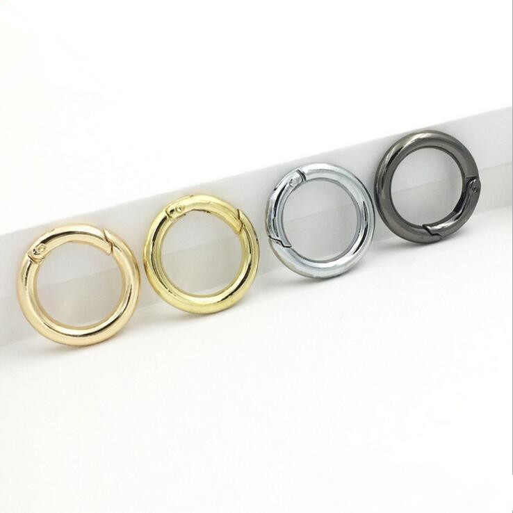 Spring Gate O Rings Openable Keyring Leather Bag Belt Strap Dog Chain Buckles Snap Clasp ...