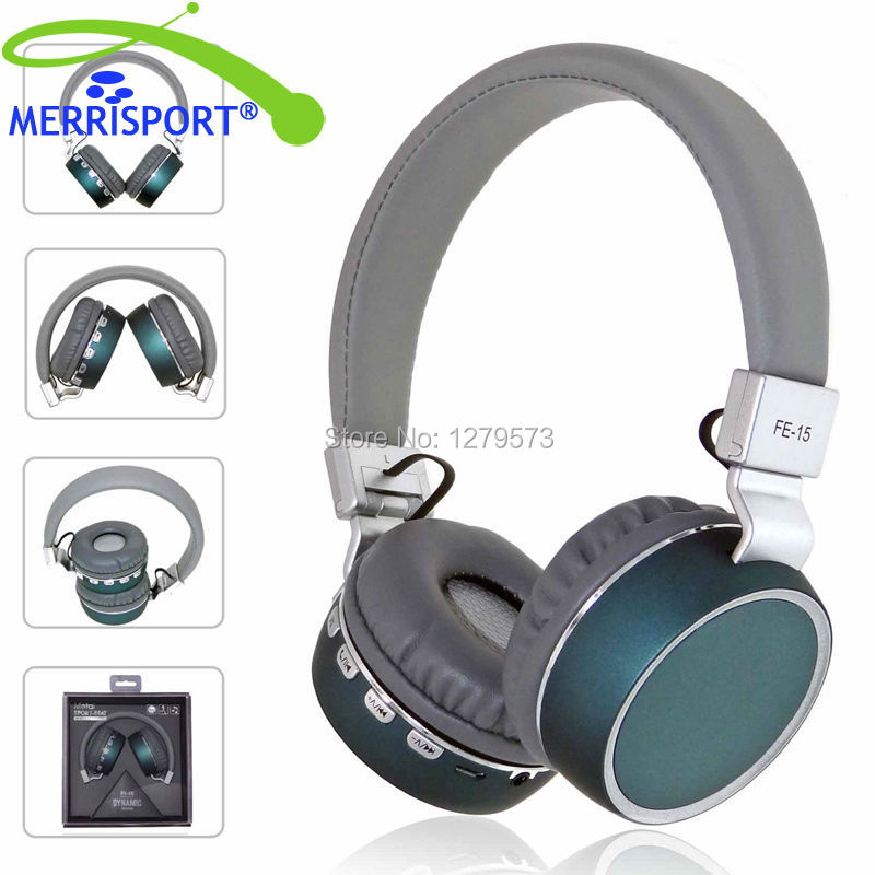 MERRISPORT Bluetooth Headphones Over Ear Wireless Headset Foldable with Mic Wired and Wireless Headphones for TV/ Cell Phone/ PC merrisport lightweight foldable wired girls headphones kids headsets with microphone and remote control for computer phone mp3 4