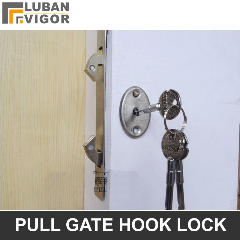 stainless doorpull gate double hook lock stealth lockfor framed glass doorstrong durabledoor hardware