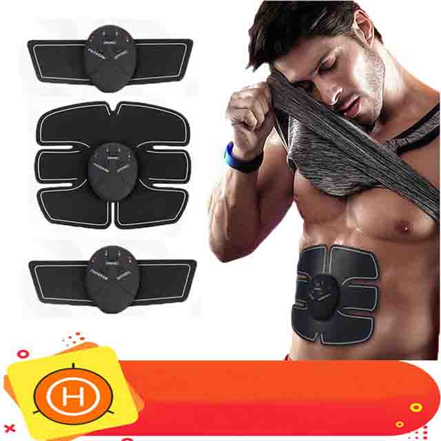 EMS Trainer Drahtlose Muscle ABS Stimulator Smart Fitness Bauch Training Gerät Elektrische Körper Massager Gewicht Verlust Aufkleber