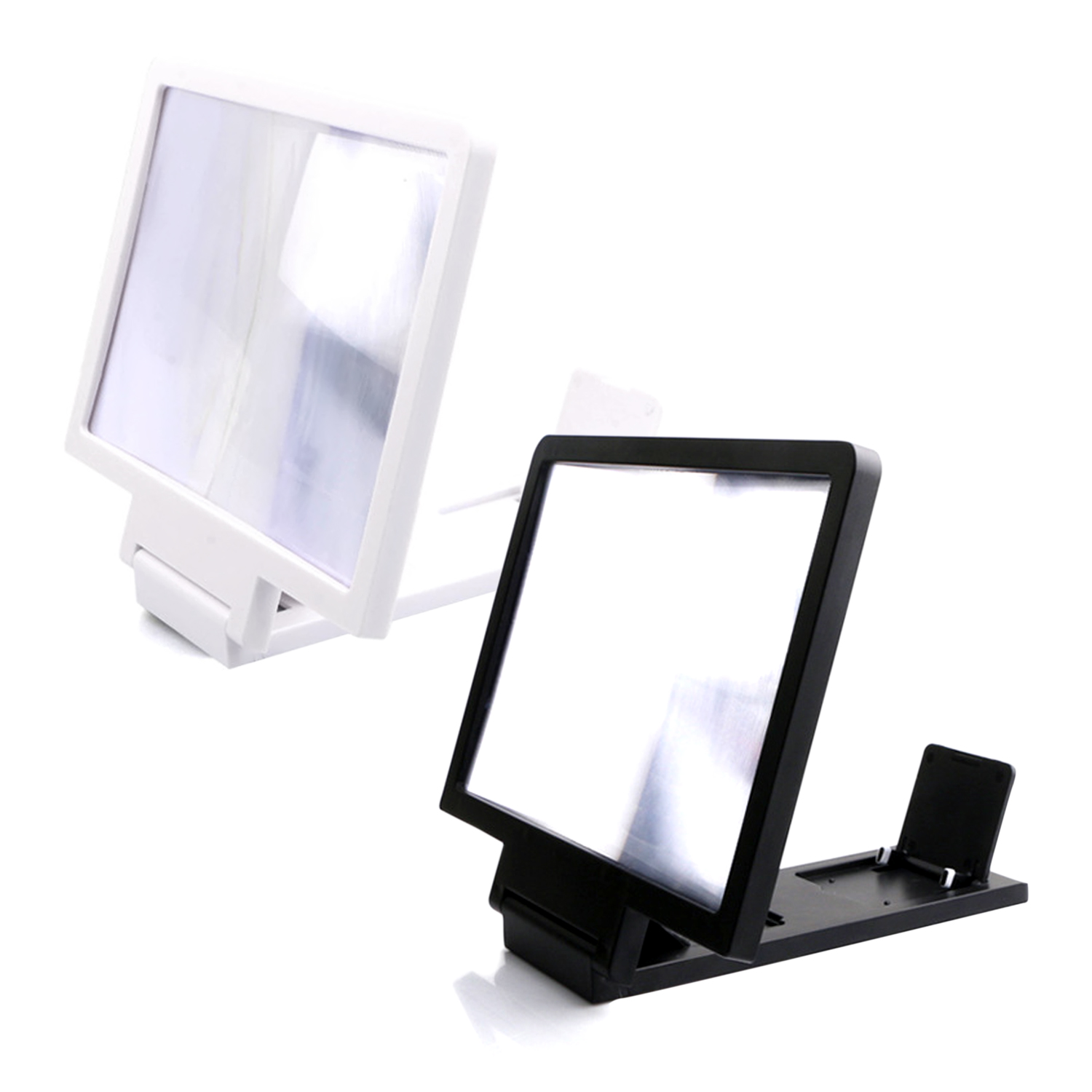 Anti-Radiation,Black L.HPT Screen Magnifier Smartphone Magnifying Glass 3D Mobile Phone Enlarger Screen Movie Video Screen Amplifier Bracket Desktop Foldable Stand Holder for iPhone Smartphone
