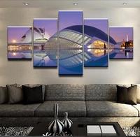 Modular Canvas Print Picture Wall Art 5 Piece City Of Arts And Sciences Spain Valencia Painting