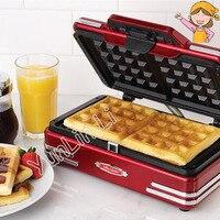 Casa Mini Máquina de Waffle 220 v 750 w DIY Ferramentas de Cozimento Máquina de Café Da Manhã Máquina de Bolo Máquina de Waffle Elétrica RMDM200