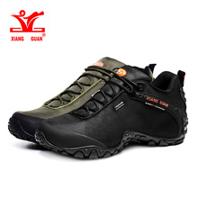 Фотография Xiang Guan Hiking Shoes Mens Waterproof Sport Trekking Boots Anti-slip Black Mountain Climbing Shoes Women Outdoor Sneakers