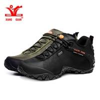 Xiang Guan Hiking Shoes Mens Waterproof Sport Trekking Boots Anti Slip Black Mountain Climbing Shoes Women
