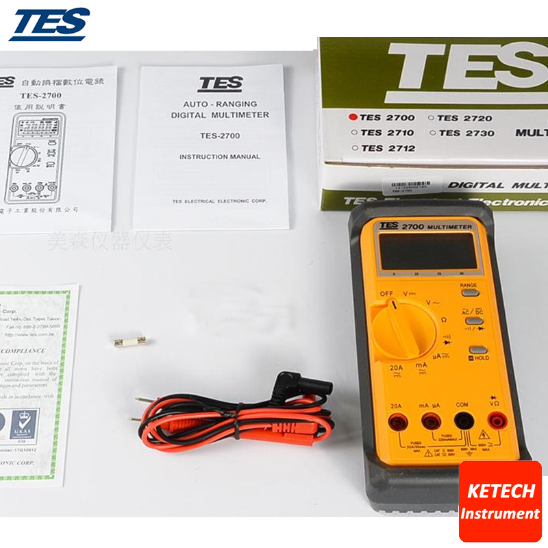 TES2712 LCR Multimeter 3 1/2 LCD with Data-hold and Peak-hold Function