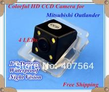 Завод продажи, HD CCD с 4 светодиодами заднего вида Reverse Резервное копирование Камера для Mitsubishi Outlander