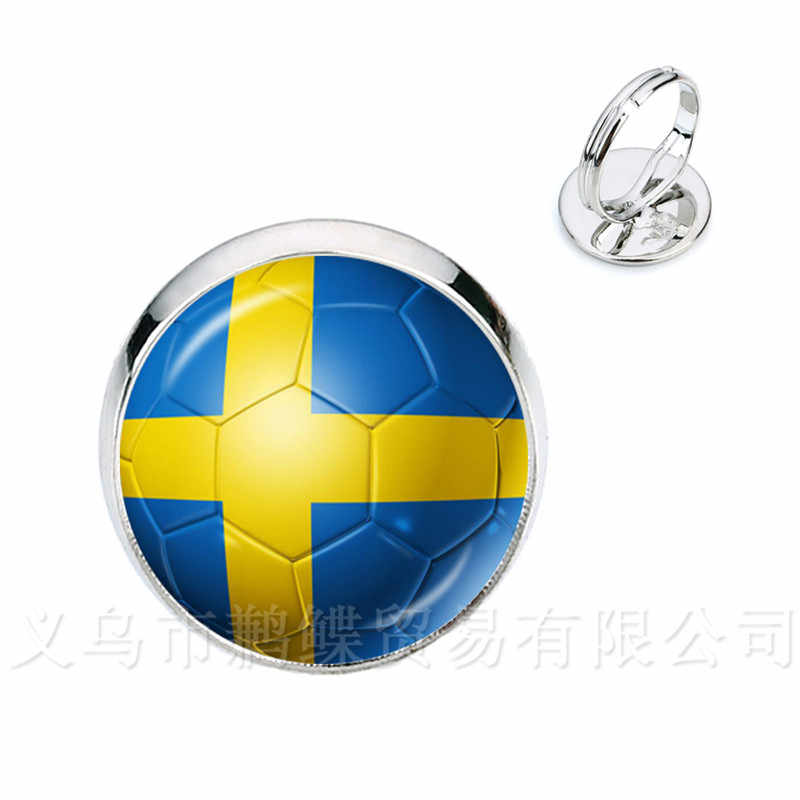 Классические Футбольные кольца 2018 кубки мира Национальный флаг Швейцария, Швеция, Япония, Португалия, Нигерия, футбольный сувенир лучший подарок
