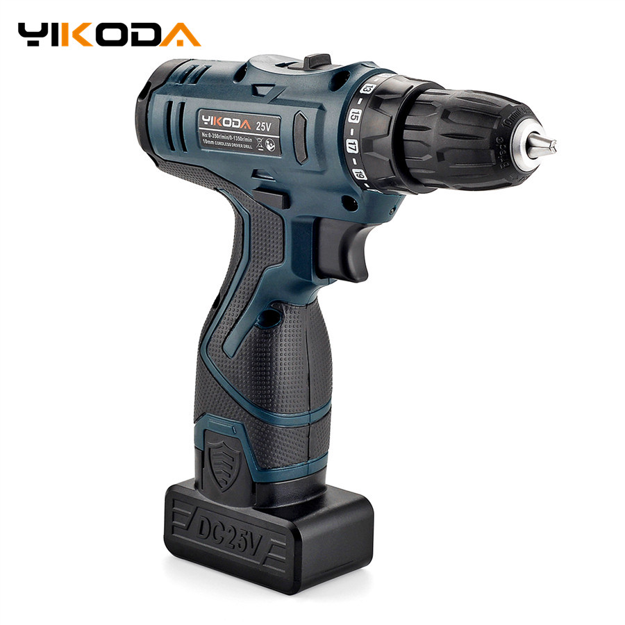 25V Electric Drill Rechargeable Lithium Battery Cordless Electric Drill Multi function Electric Screwdriver Handheld Power Tools