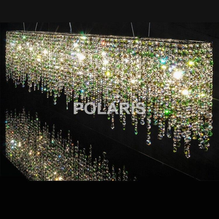 Contemporáneo lujo moderno LED K9 iluminación araña de cristal colgante luces/lámparas para Villa comedor y decoración del Hotel